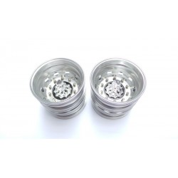 Alum. Truck Rear Wheels Chrome Center w/chrome nut (pair)