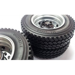 "1.7"" Commercial 1/14 Semi Truck Tires 75mm w/Foam inserts(1)"