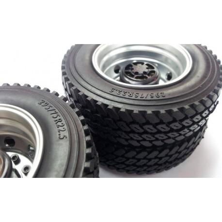 Semi Truck Tires Near Me >> 1 7 Commercial 1 14 Semi Truck Tires 75mm W Foam Inserts 1