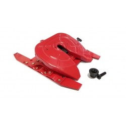 Reality Oscillating Fifth Wheel w/Slide Bracket for Tamiya 1/14 Truck Red