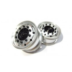 Reality Truck Alum. Wide Wheels w/black nut (pair)