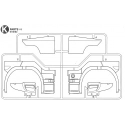 Tamiya Scania part K x1