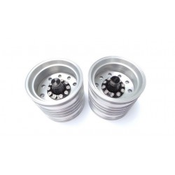 RE Truck Alum. Rear Wheels (pair) for 1/14 Tamiya Truck