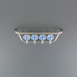 Scania front light holder with chromed lights Angel Eyes LED Set