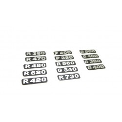 Detailed Number Decal Set for Tamiya 1/14 Scania