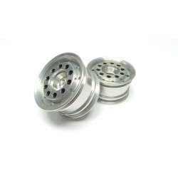 Semi Truck Alum. CNC Wide Front Wheels (pair) for 1/14 Tamiya Truck