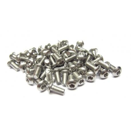 3x6mm  Stainless Steel Hex Socket Round Head Screws