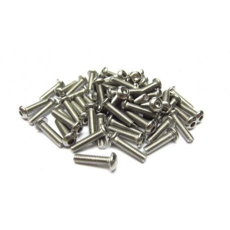 3x12mm  Stainless Steel Hex Socket Round Head Screws