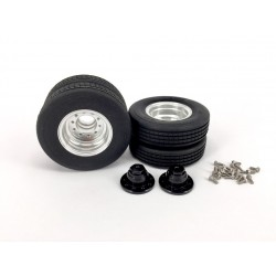 Spare Alum. Small Wheel & Tire Set for Alum. CNC Dolly Lowboy Trailer
