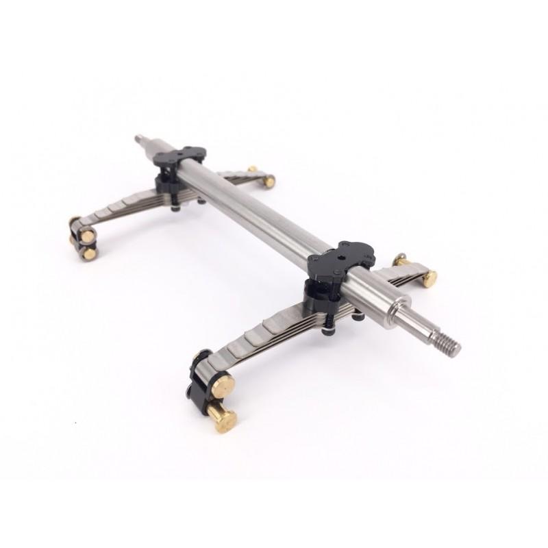 diy lowboy suspension axle set w small wheel tire. Black Bedroom Furniture Sets. Home Design Ideas