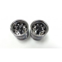 LH Truck Alum. Rear Wheels Chrome Mirror (pair)