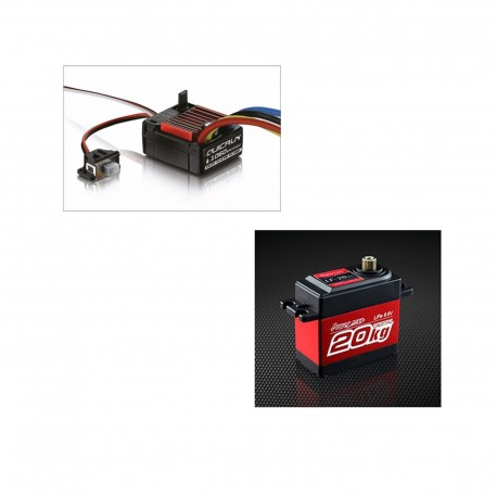 Super Bundle 2: HobbyWing Brushed 60A ESC + Power HD LF-20MG 20Kg Servo