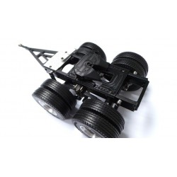 Alum. CNC 2 Axle Dolly Trailer for Tamiya 1/14 Truck