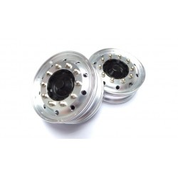 Reality Truck Alum. Front Wheels w/chrome nuts (pair)