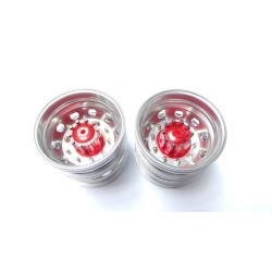 Reality Truck Alum. Rear Wheels w/chrome nut (pair)