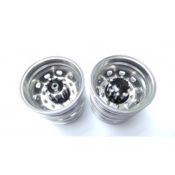 Reality Truck Alum. Rear Wheels Black w/chrome nut (pair)