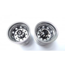Reality Truck Alum. Rear Wheels Black w/black nut (pair)