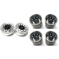 Rigidrc 6x4W Alum Wheels Set for Tamiya 1/14 Truck
