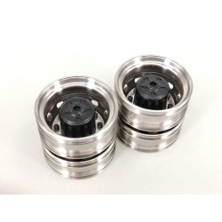 Stainless Steel Scania Rear Wheels Ver.A for Tamiya 1/14 Truck