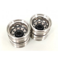 Stainless Steel Scania Rear Wheels Ver.B for Tamiya 1/14 Truck
