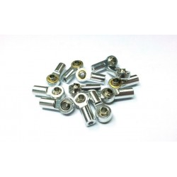 Aluminum M3 Rod End with Steel Ball Silver (1)
