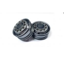 Semi Truck Alum. Front Wheels Titanium (pair)